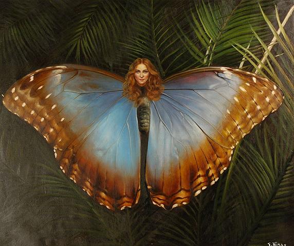 Мадонна с телом бабочки