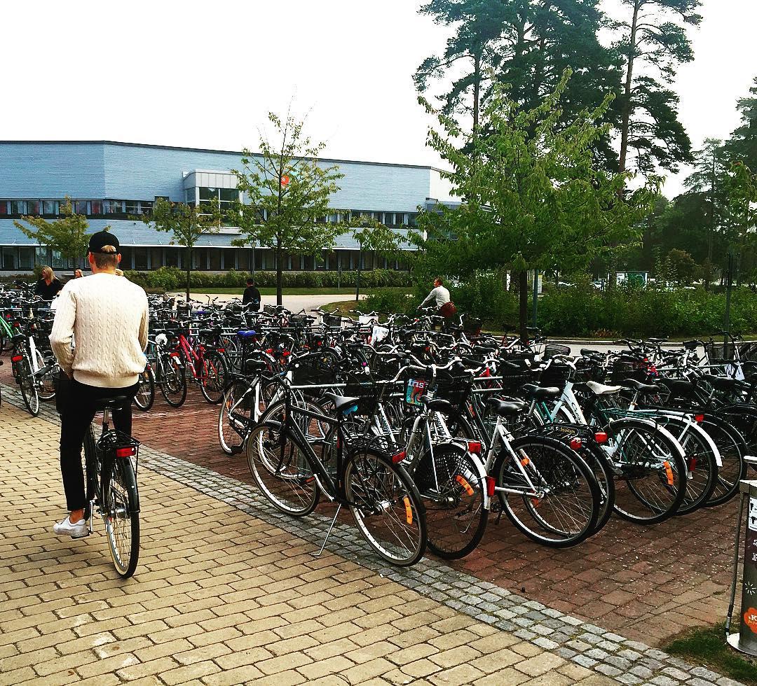 Велосипед - главный транспорт в Кальмаре