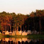 Палаточный городок в Мирском Замке