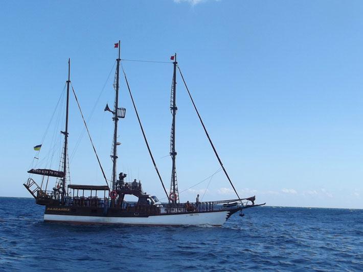 Морская прогулка на яхте в Крыму
