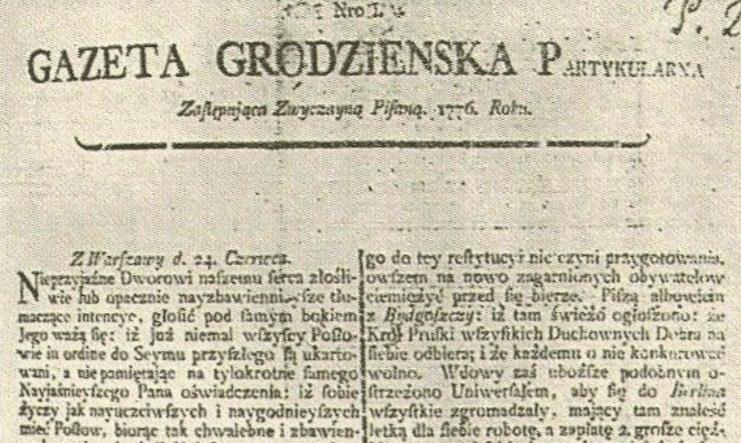 """""""Gazeta Grodzieńska"""" ў пытаннях і адказах 12"""